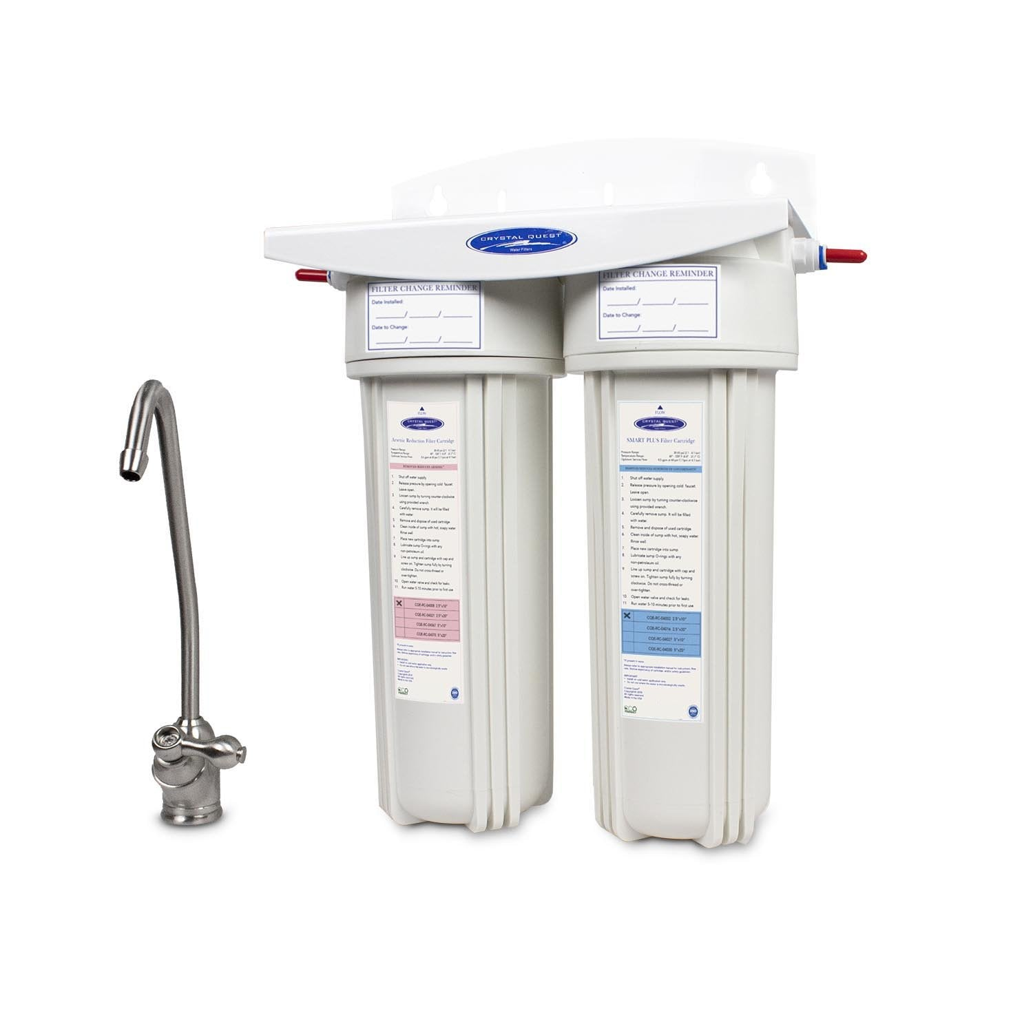 CLEAR TRIPLE UNDER SINK SEDIMENT// FLUORIDE//ARSENIC// CHLORAMINE FILTERS