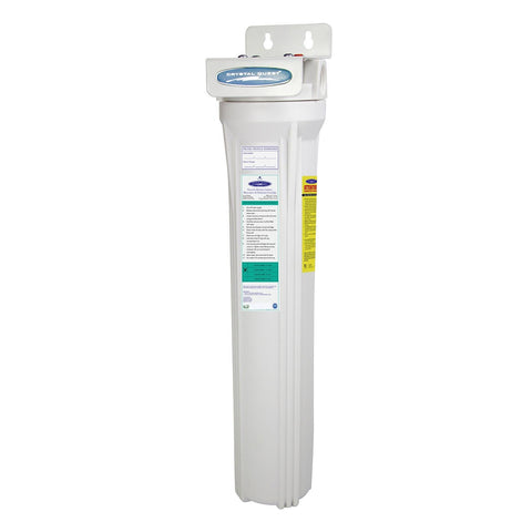 "Single / 1"" Slimline Whole House Water Filter, Alkalizing (2-4 GPM 