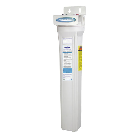 "Single / 1"" Slimline Whole House Water Filter, SMART Series (3-6 GPM 