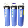 "Triple / 1"" Big Blue Whole House Water Filter, Alkalizing (4-6 GPM 