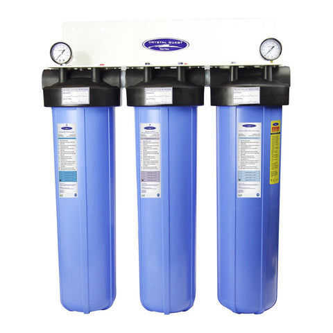 "Triple / 1"" Big Blue Whole House Water Filter, Fluoride Removal (4-6 GPM 