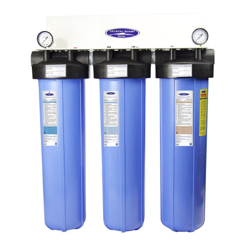 "Triple / 1"" Big Blue Whole House Water Filter, SMART Series (6-8 GPM 