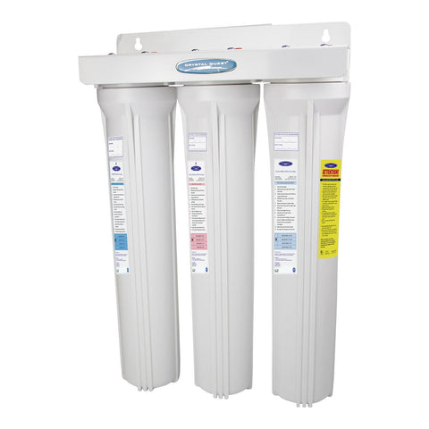 "Triple / 1"" Slimline Whole House Water Filter, Arsenic Removal (2-4 GPM 