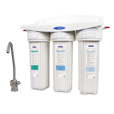 Triple Alkaline Under Sink Water Filter System - Under Sink Water Filters - Crystal Quest