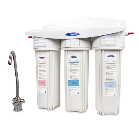 Triple Arsenic Under Sink Water Filter System - Under Sink Water Filters - Crystal Quest