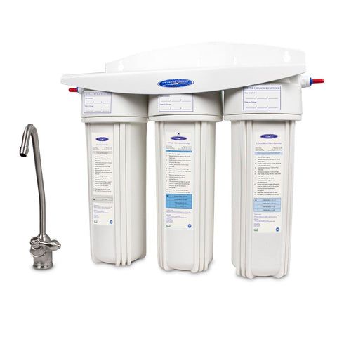 Triple Ceramic Under Sink Water Filter System - Under Sink Water Filters - Crystal Quest