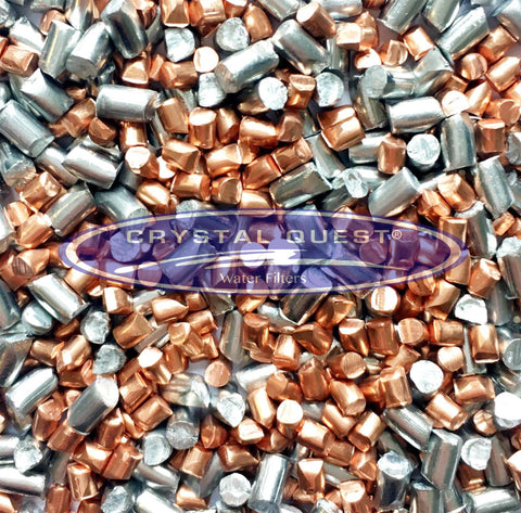 Zinc/Copper Redox Alloy Pellets Blend (Per Pound) - Water Filtration Media - Crystal Quest Water Filters