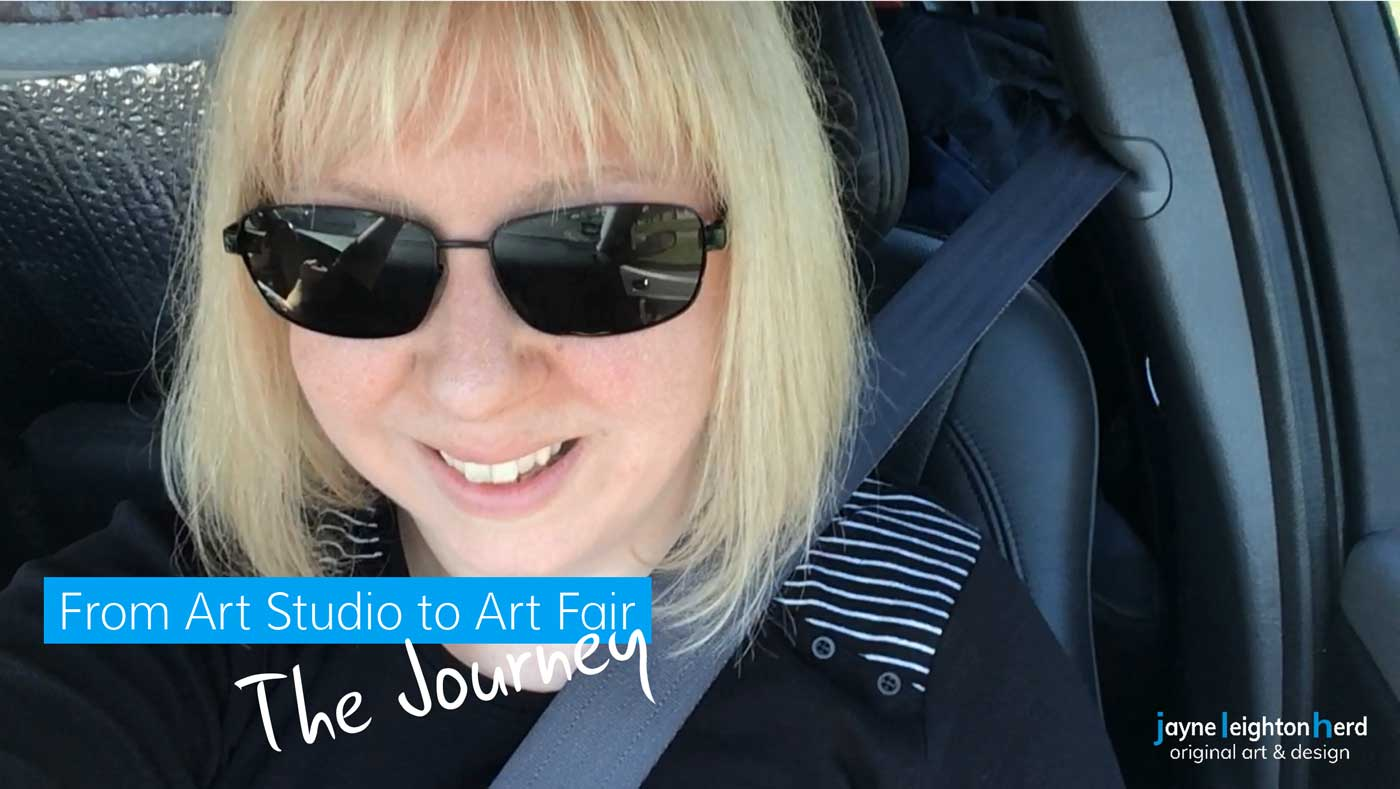 Behind the scenes: the journey from art studio to art fair!