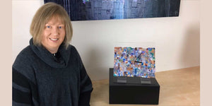 Jayne Leighton Herd talks about one of her new abstract wall clocks