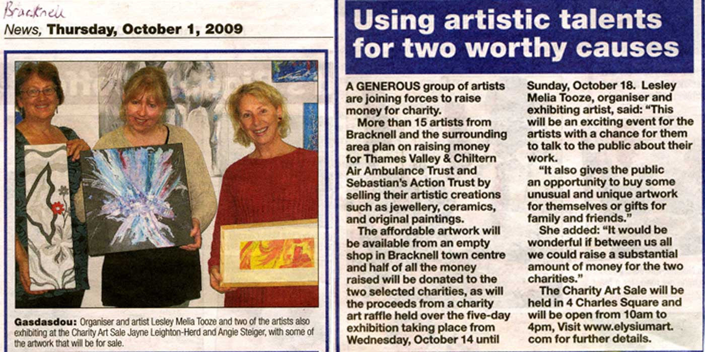 Bracknell charity art sale