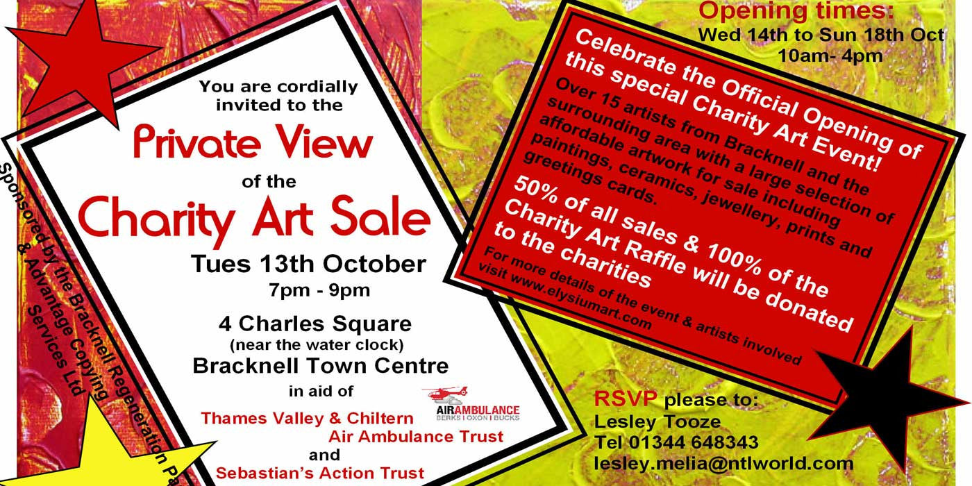 Charity Art Sale – Bracknell 14 – 18 October 2009