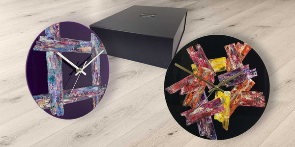 Buy original, contemporary, designer wall clocks by Jayne Leighton Herd