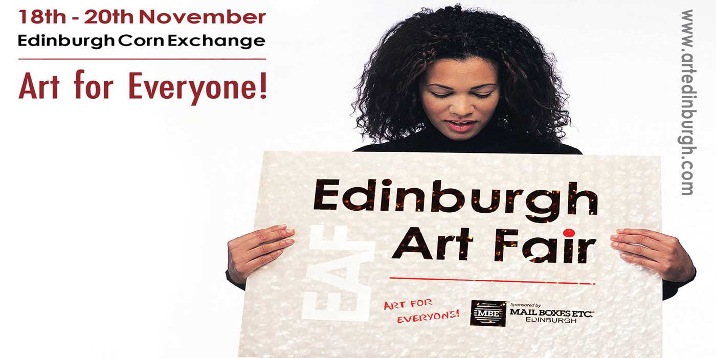 See abstract art on plexiglass & metal at Edinburgh Art Fair 2016