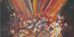 New original abstract painting: Flames