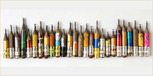 Guest artist - pencil sculptures