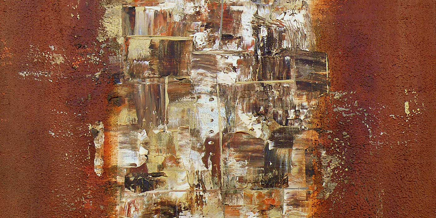 New abstract painting: Rustic