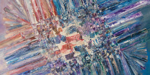 Large original abstract paintings - 'The Thaw' & 'Opening Up'
