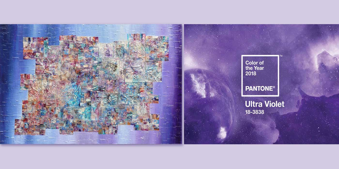 Pantone Ultra Violet Colour of the Year 2018 is right up my art street!