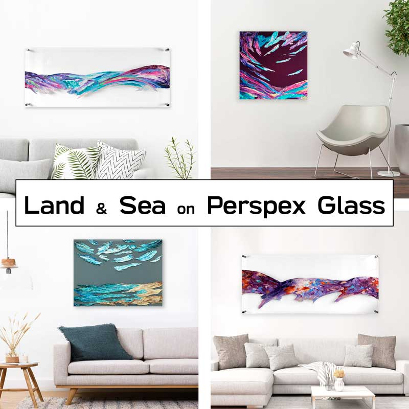Buy land & sea art on plexiglass