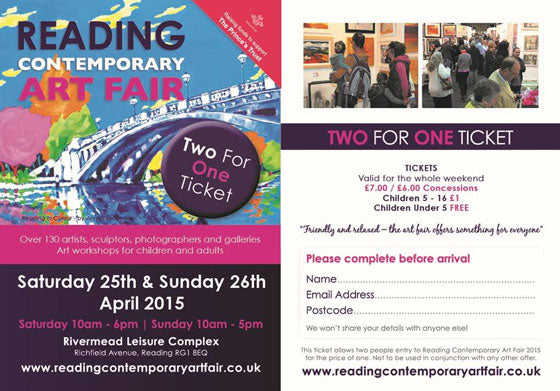 Reading Contemporary Art Fair 2 for 1 ticket