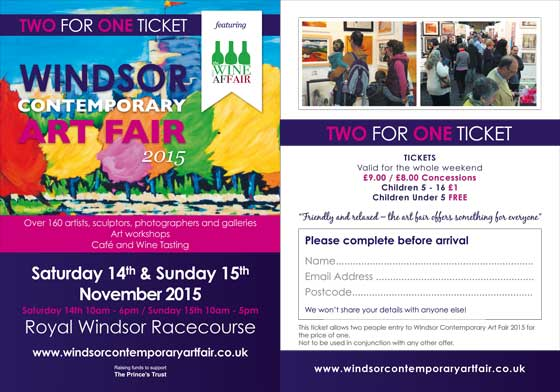 2-for-1 ticket - Windsor Contemporary Art Fair 2015