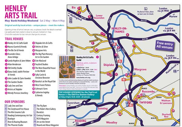 Henley Arts Trail 2015 Map