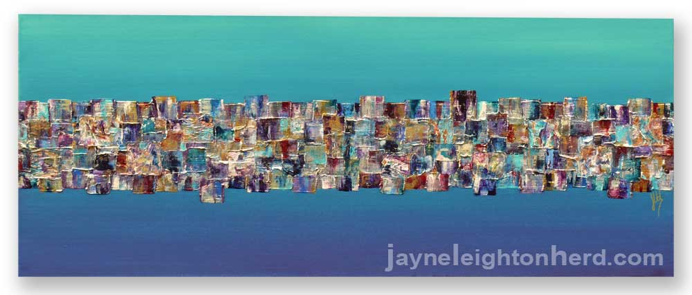 Just Floating, original painting by Jayne Leighton Herd