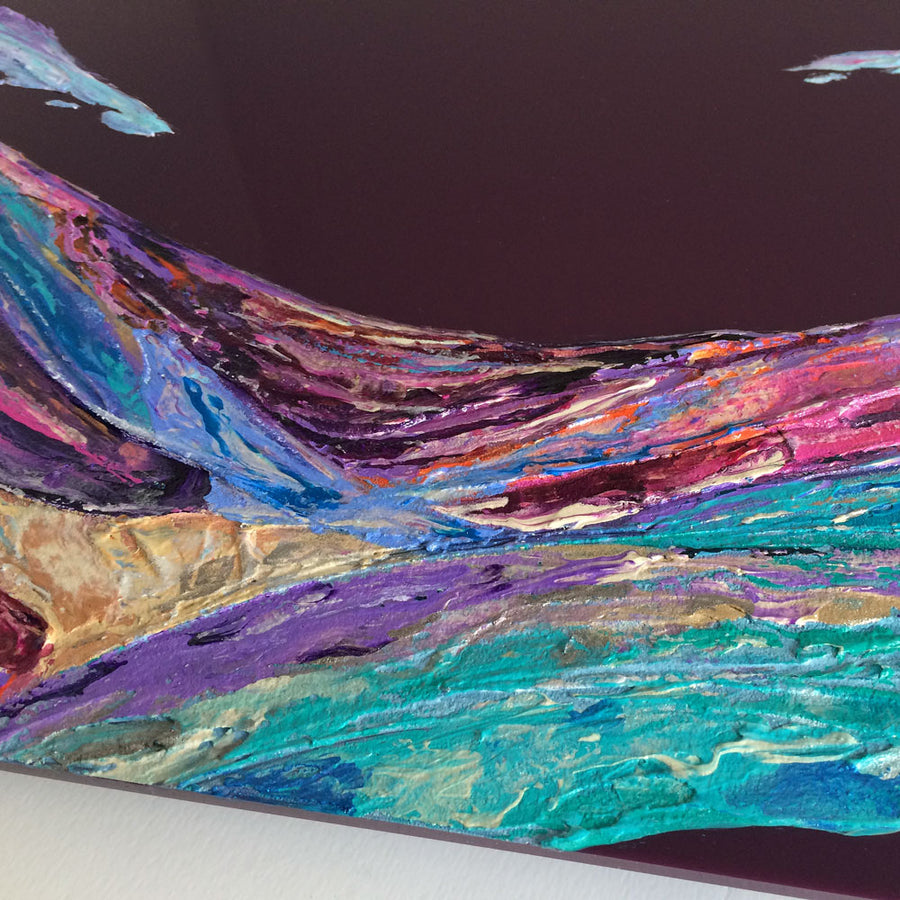 'Ethereal' contemporary landscape painting on plexiglass