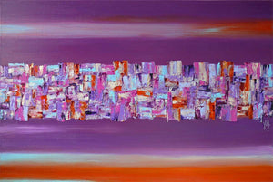 'Joie de Vivre' original large abstract painting on canvas