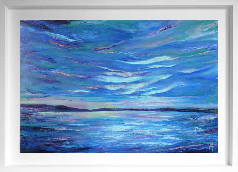 'Light My Way' original framed, Scottish seascape painting on panel
