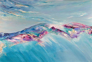 Up in the Clouds - abstract mountainscape landscape painting inspired by the Cairngorms, Scotland
