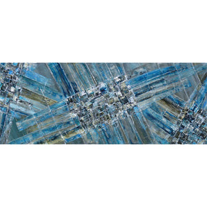 'Blue Ice' original abstract painting on canvas