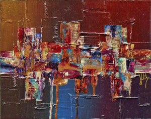 'Colouration I' original abstract painting on canvas board