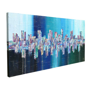 Deep - original abstract painting on canvas - angle