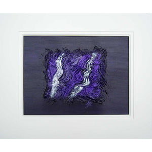 'Driven to Abstraction V' mounted original on canvas board