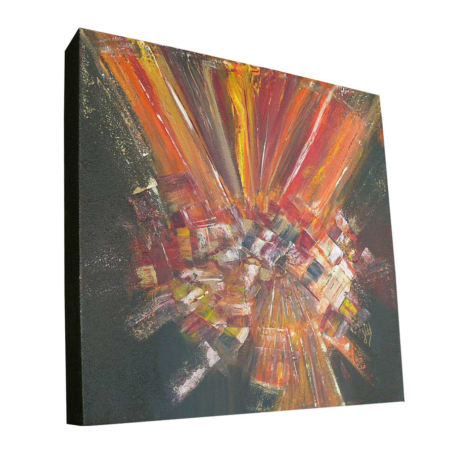 'Flames' original abstract art on canvas