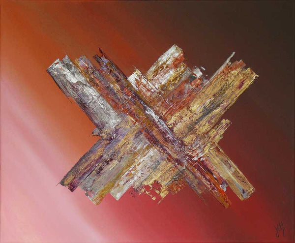 'Hello World' contemporary abstract space painting, outerspace gallaxy satellite art
