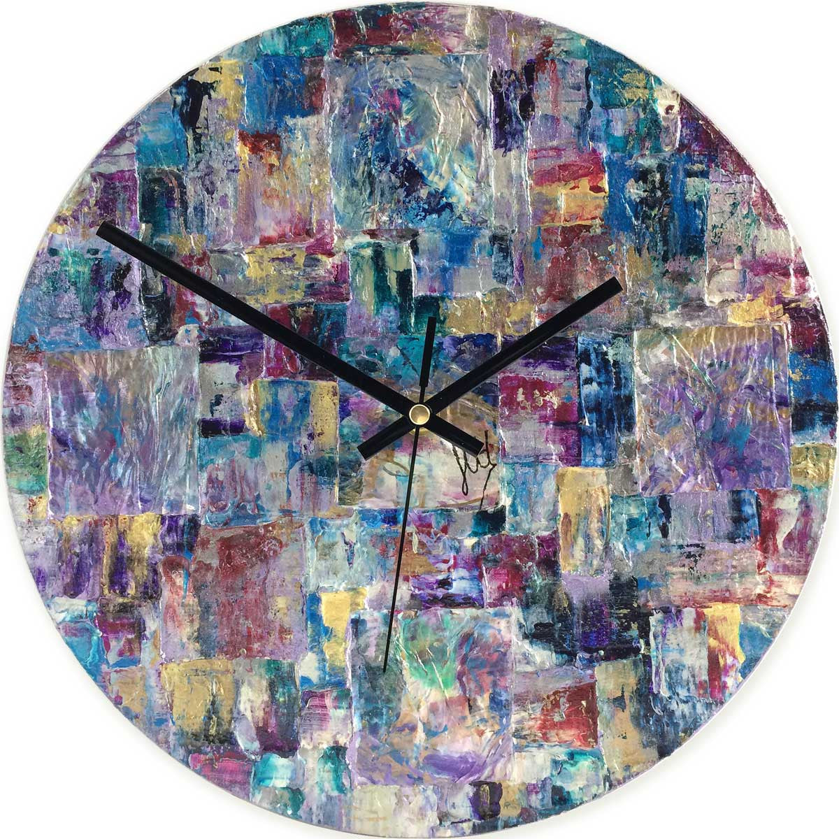 Round 30cm abstract wall clock - JLH30ROU2