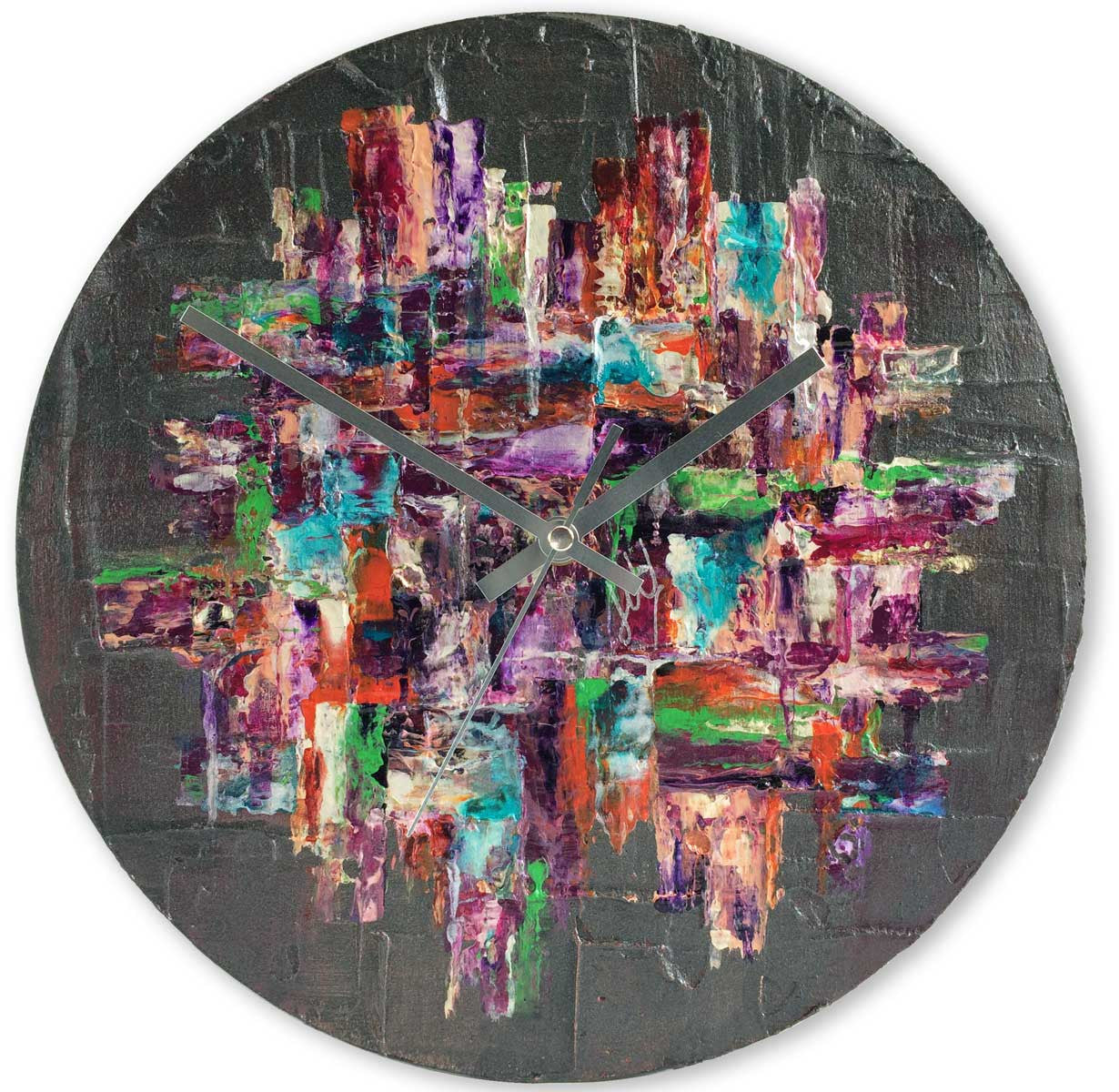 Round 30cm abstract wall clock - JLH30ROU4
