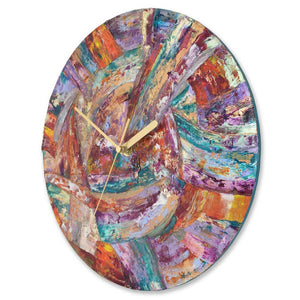 Round 30cm abstract wall clock - JLH30ROU6