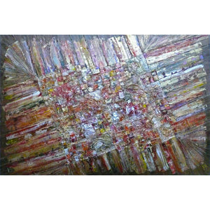 'Life's Tapestry III' abstract painting