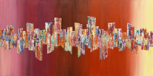 'Music and Wine' large abstract art on canvas