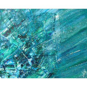 'Ocean' abstract painting on canvas