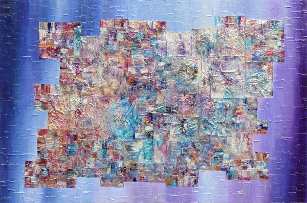 'Puzzling Out' abstract art on canvas