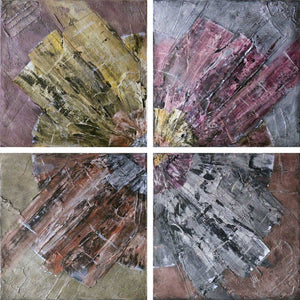 'Rotation' tetraptych painting on canvas