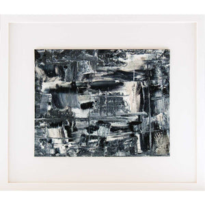 'Silver Abstraction' mounted art on canvas board