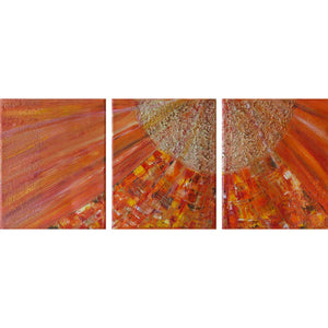 'Soleil' triptych painting on canvas