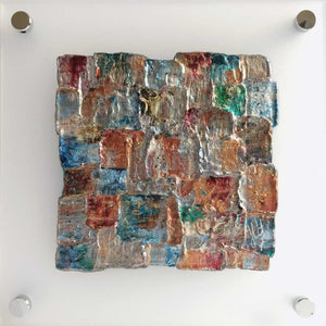 'Summer III' - miniature abstract art on frosted perspex glass