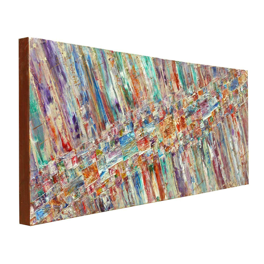 'Summer Promenade' abstract painting on canvas