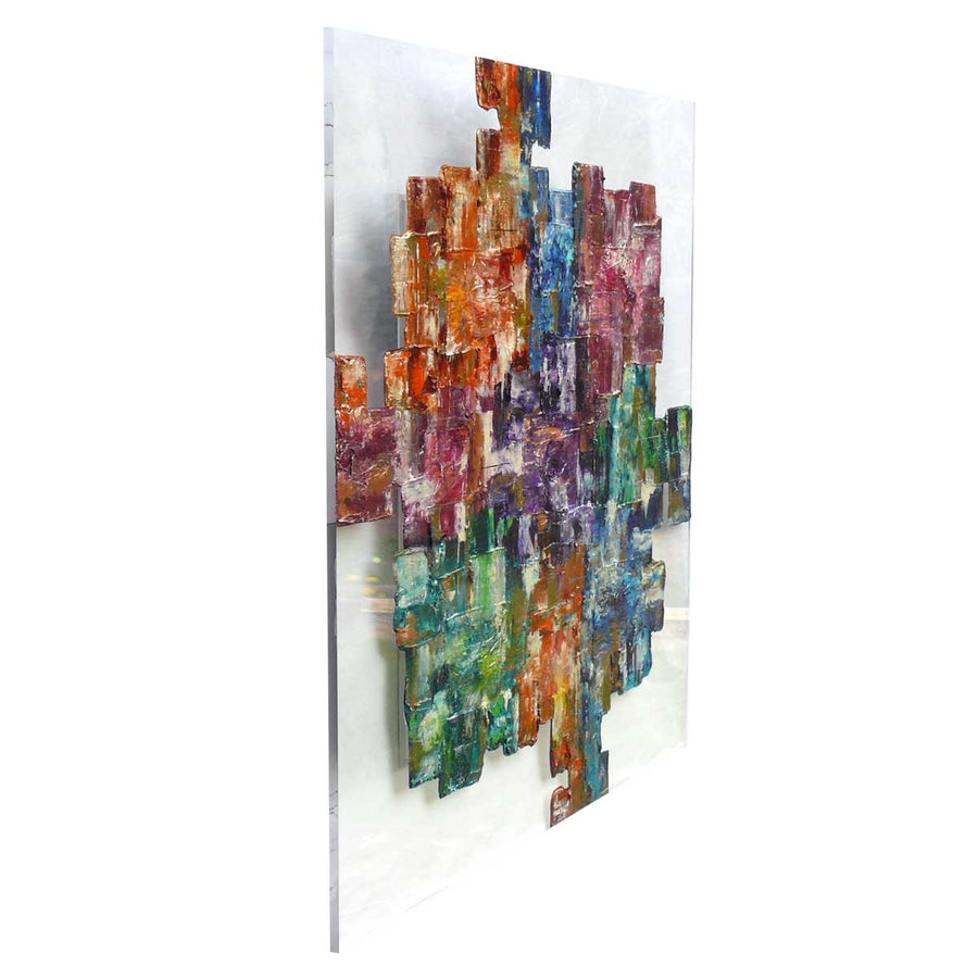 'The Missing Piece' artwork on clear plexiglass